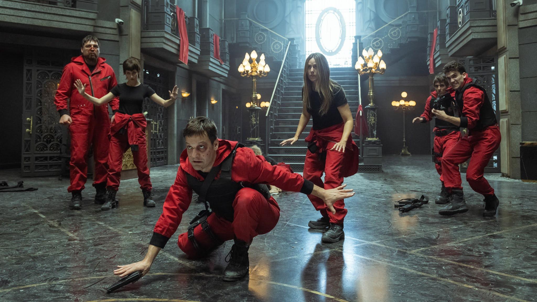 "Netflix revela as primeiras imagens eletrizantes de ""La Casa de Papel 5"""