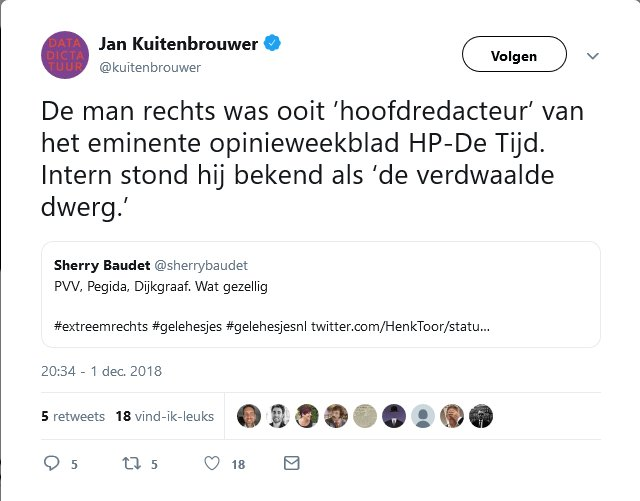 "Jan Dijkgraaf, aka ""Jan Dijklul"" (Bart Nijman) / ""De Verdwaalde Dwerg"" (HP-De Tijd)"