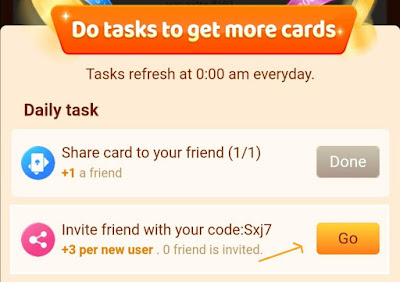 Invite friend with your code
