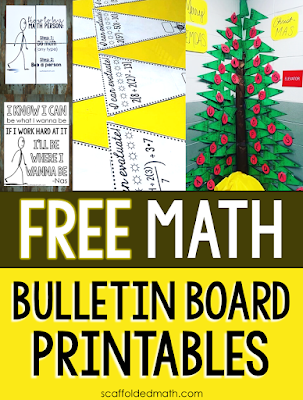 Who doesn't love free classroom decor? In this post are a bunch of free math bulletin board printables, from posters to math pennants, that you can download for your classroom for free today.