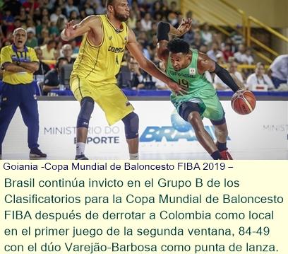 Copa Mundial de Baloncesto FIBA 2019 Clasificatorios para las Américas - Brasil aplasta a Colombi