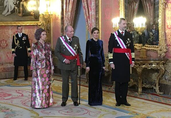 King Felipe, Queen Letizia, King Juan Carlos and Queen Sofia of Spain attended Pascua Militar 2018