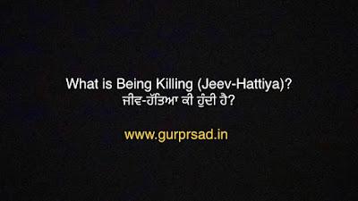 What is Being killing (Jeev Hattiya) actually? ਅਸਲ ਵਿੱਚ ਜੀਵ ਹੱਤਿਆ ਕੀ ਹੁੰਦੀ ਹੈ?