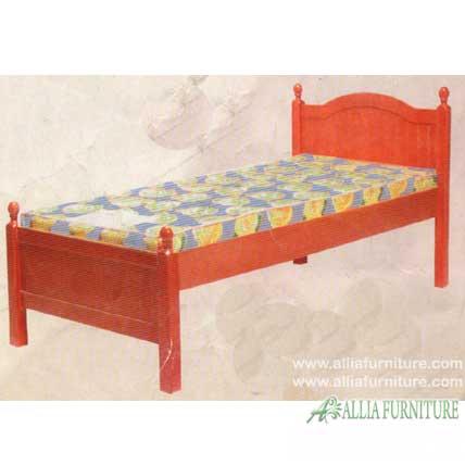 tempat tidur anak kayu jati model bubut