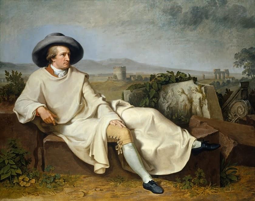 Johann Wolfgang von Goethe by Johann Heinrich Wilhelm Tischbein