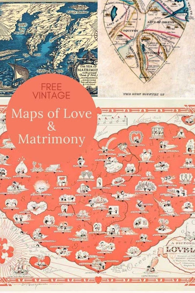 Fun Pictorial Maps of Love and Marriage.