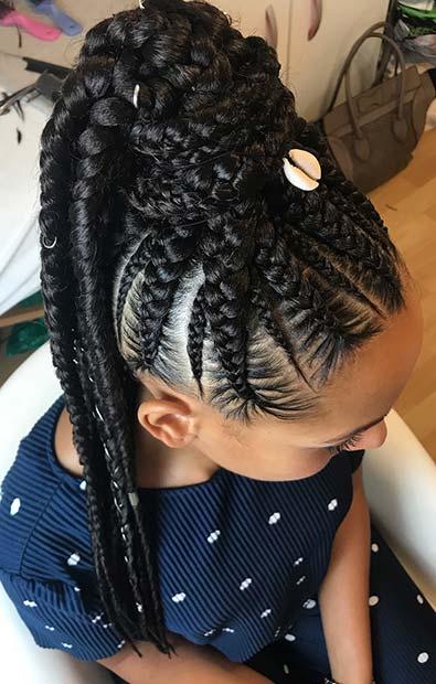 elegant lemonade braided ponytail