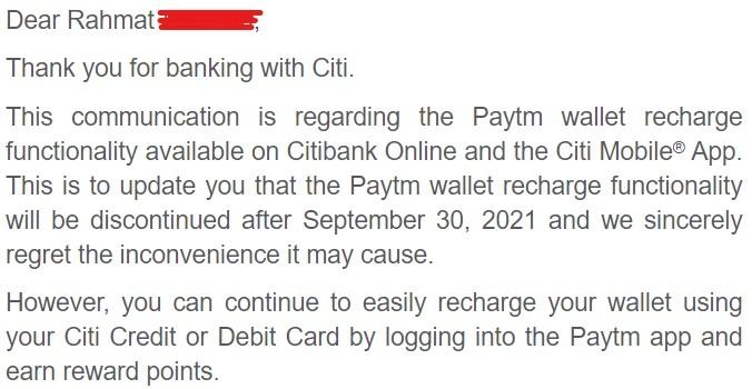 Paytm Citibank