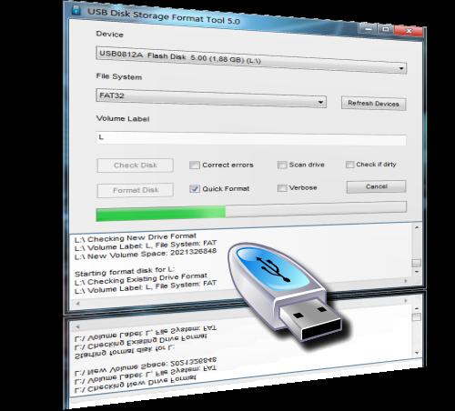 USB Disk Storage Format Tool 5.2 [Formateo seguro y comprobación de errores en unidades USB]