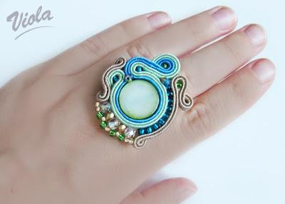 pierścionek sutasz masa perłowa