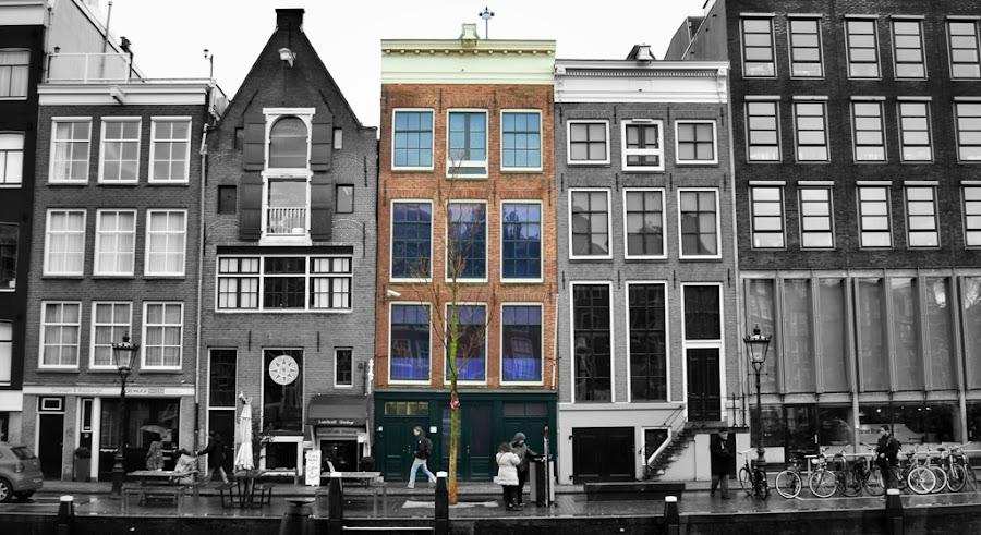 La casa de Anne Frank en Ámsterdam, Holanda