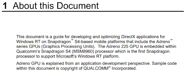 The first main section of the PDF explaining that it is about Windows RT.