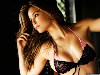 Bar Refaeli Hot Black and Pink Bra Wallpapers