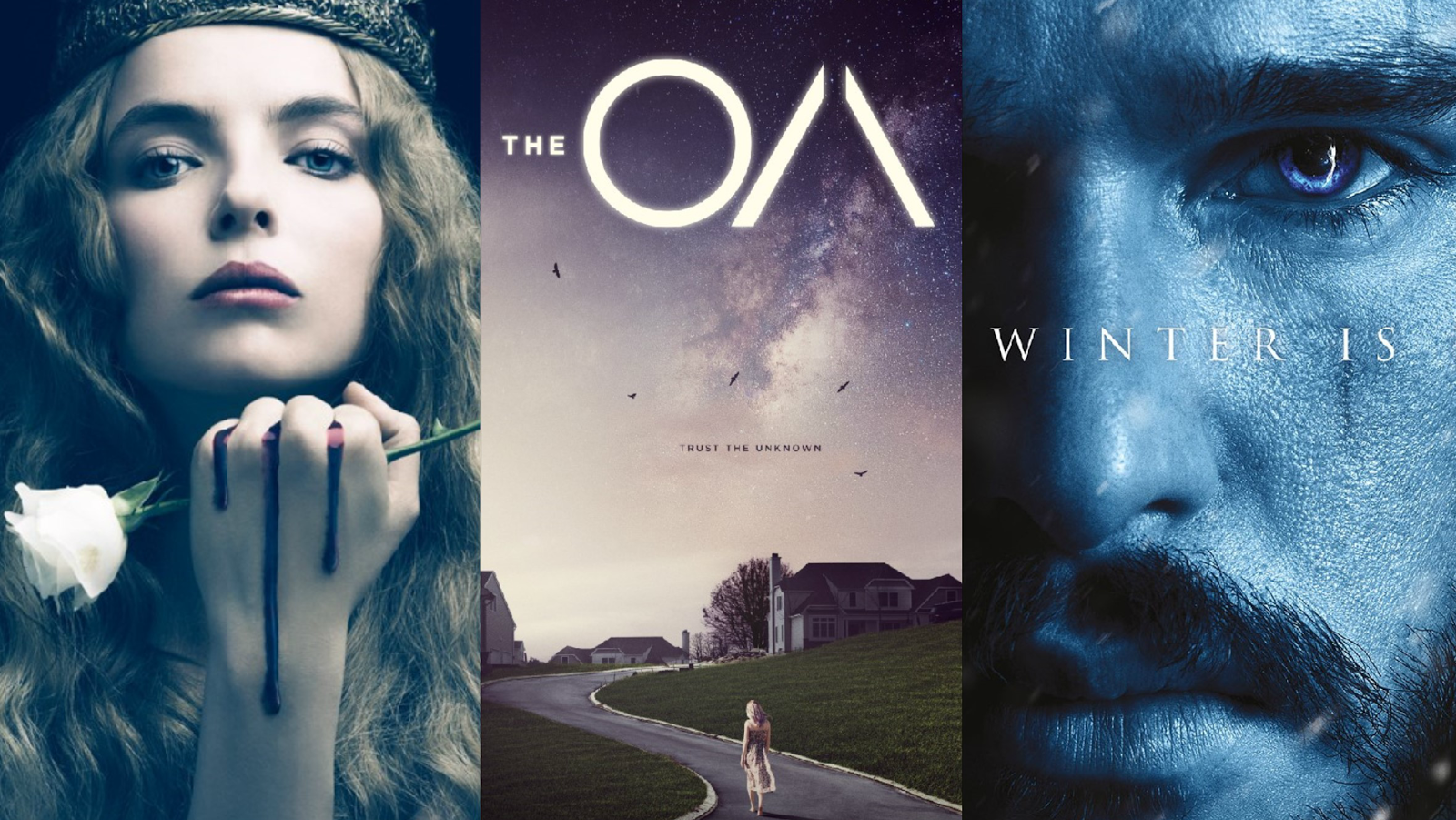 Promo posters for The White Princess, The OA and Game of Thrones