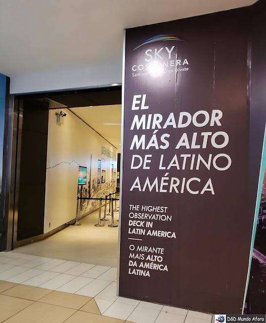 Sky Costanera: mirante mais alto da América Latina, no Chile