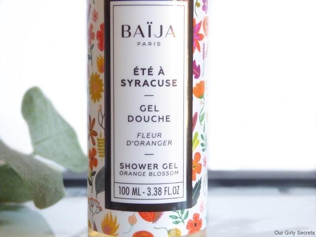 Baïja gel douche fleur d'oranger