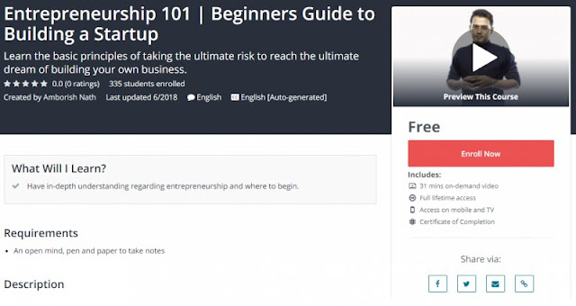 [100% Free] Entrepreneurship 101 | Beginners Guide to Building a Startup