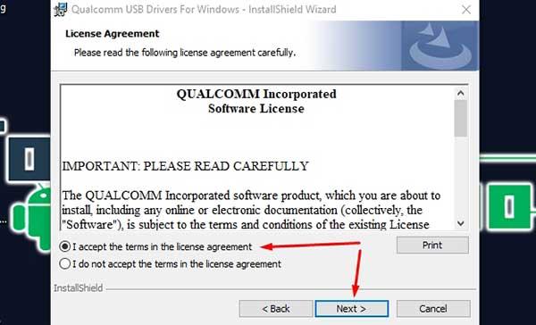instalar los controladores Qualcomm para Android