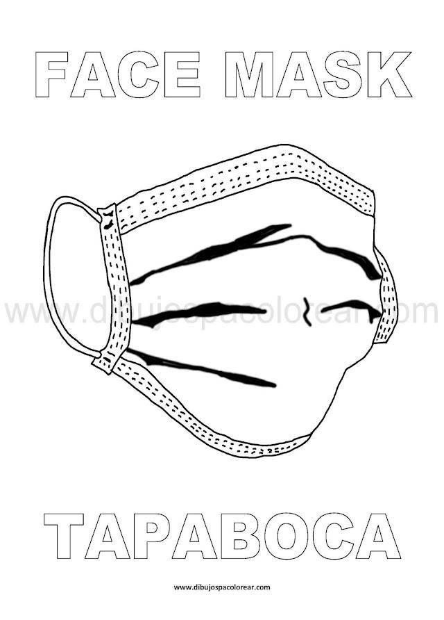 Dibujos Inglés - Español: Tapaboca - Face Mask