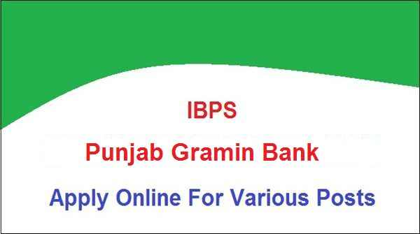 Punjab Gramin Bank (PGB) Jobs 2019 Notification Released