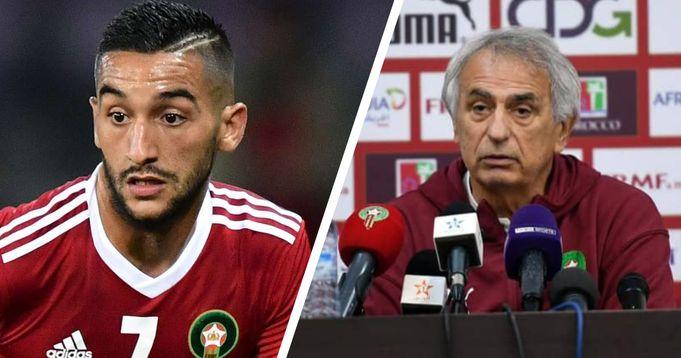 Morocco coach Halilhodžić blasts Ziyech behaviour in camp: 'I will not tolerate him'