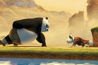 Kung Fu Panda fighting scene 2008 animatedfilmreviews.filminspector.com