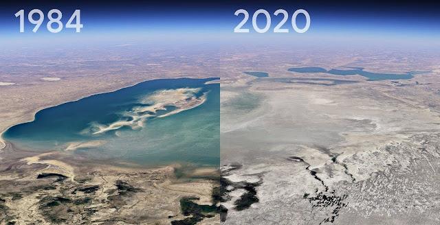 La nuova funzione Timelapse di Google Earth ci mostra gli effetti del cambiamento climatico