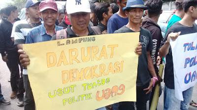 Elemen Masyarakat Lampung Bergerak Tolak Hasil Pilgub 2018
