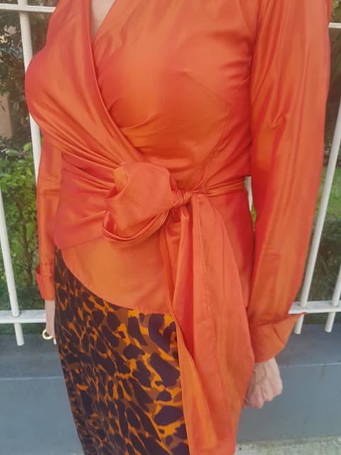 Silk maxi skirt in Cheetah print from Tuchuzi