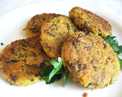 wild rice quinoa patties