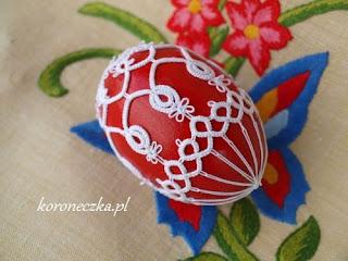 Frywolitkowa pisanka oraz skąd jakie jajka na pisanki i czym je pomalować