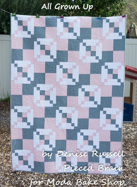 All Grown Up Irish Chain Quilt Free Tutorial designed by Denise Russell for Moda Bake Shop