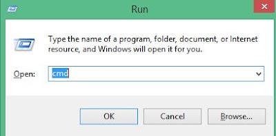 Buka aplikasi CMD