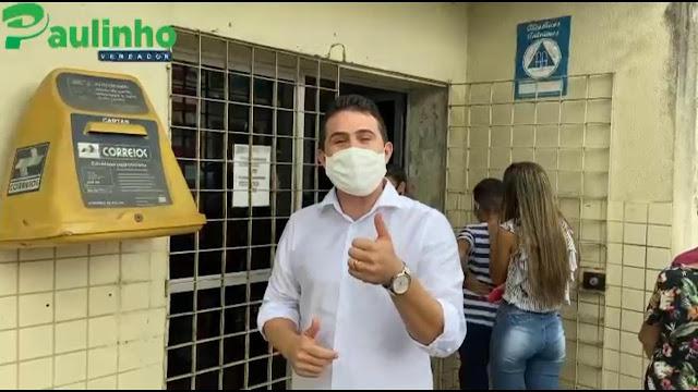 Vereador Paulinho visita os Correios de Escada, e se compromete em buscar melhorias junto as autoridades