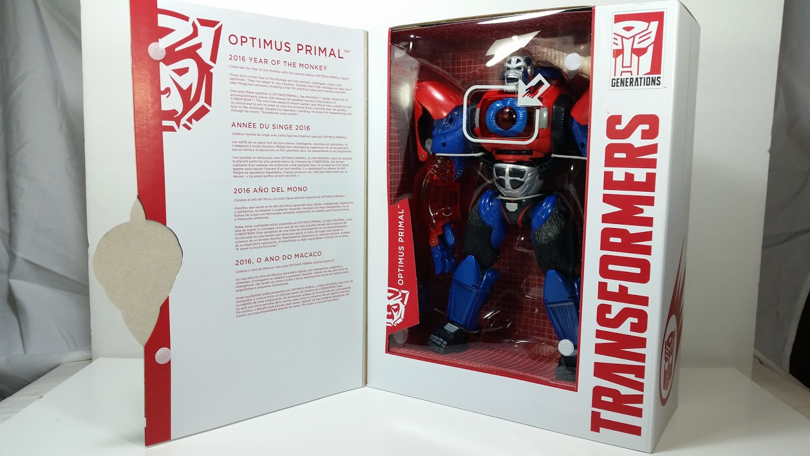Transformers News: Video Review of Hasbro Platinum Edition Year of the Monkey Optimus Primal