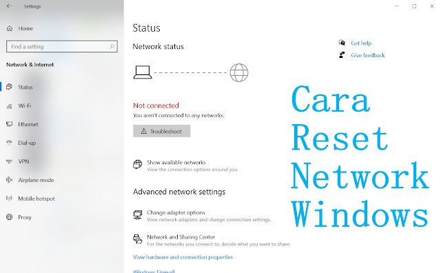 cara reset network di windows