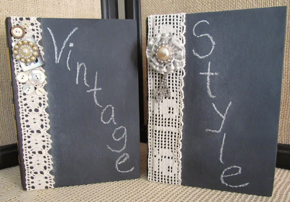 turn an old book into a decorated chalkboard