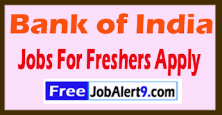 Bank of India Recruitment 2017 Jobs For Freshers Apply
