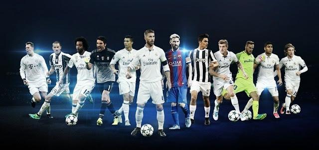 UEFA divulgou os indicados aos prêmios Champions