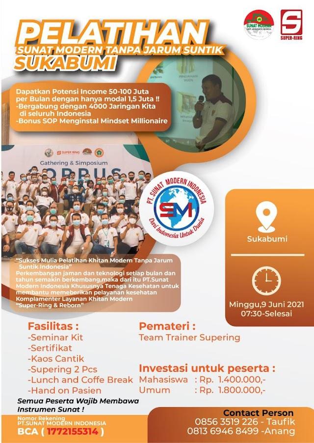 Pelatihan Sunat Modern Tanpa Jarum Suntik Lokasi Sukabumi