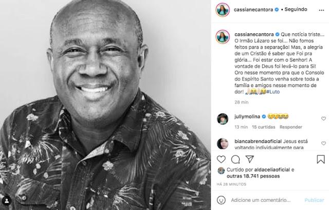 Parlamentares, cantores e fãs lamentam morte de Irmão Lázaro