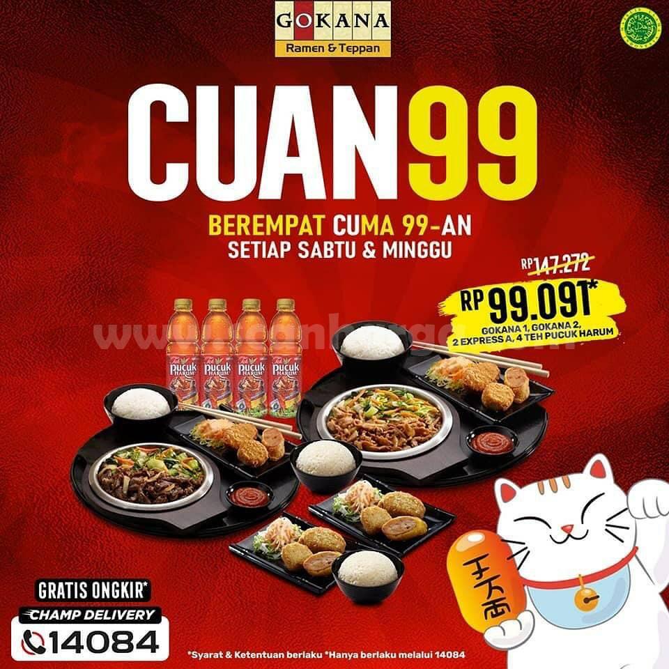 Gokana CUAN99: Promo Makan BerEmpat cuma Rp 99.091*
