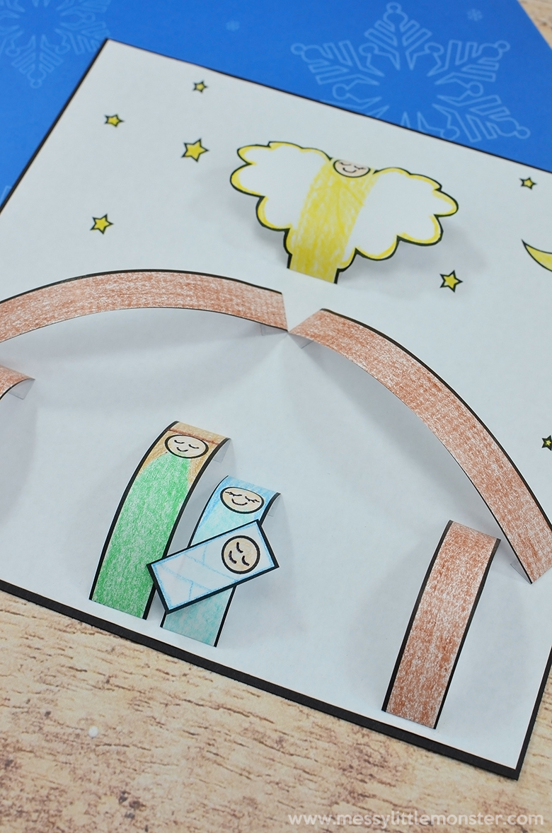 Kids nativity craft. Christmas crafts for kids.