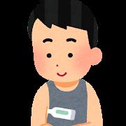 検温のイラスト(男性)