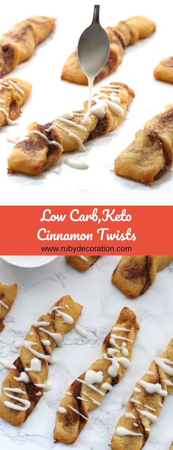 Low Carb,Keto Cinnamon Twists