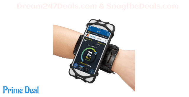 60% OFF  newppon Cellphone Holder Running Wristband :for iPhone Xs Max Xr X 6s 7 8 Plus Samsung Galaxy S9+ S8 S7 Google Pixel LG HTC, 180° Rotatable Elastic Armband for Gym Fitness Workout