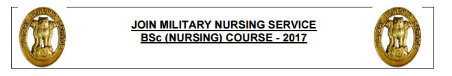Join Indian Army BSc Nursing Course - 2017