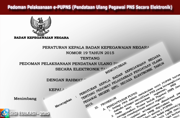 Pedoman Pelaksanaan e-PUPNS (Pendataan Ulang PNS Secara Elektronik)
