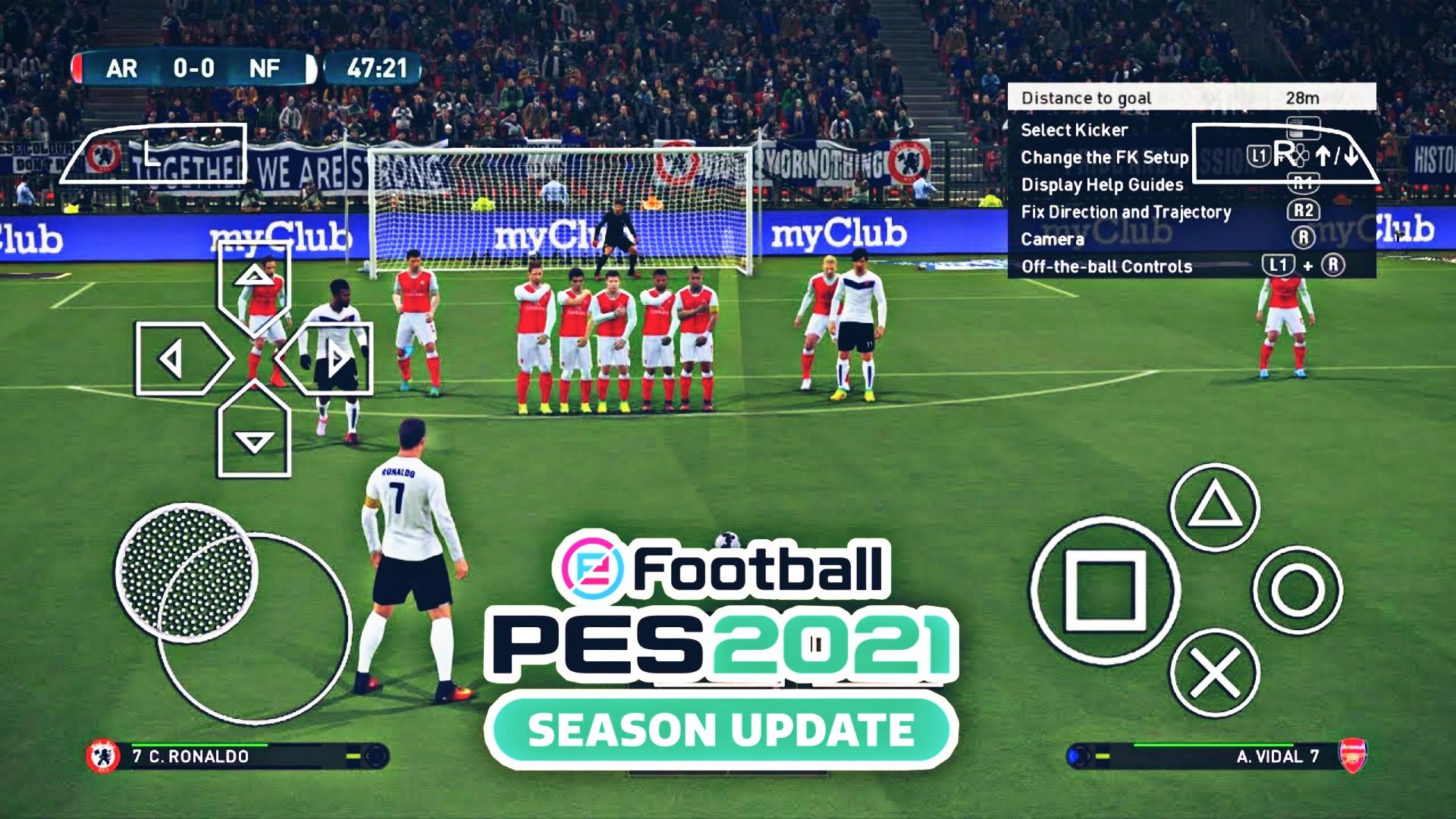 تحميل لعبة بيس PES 2021 بتعديلات خرافية تشتغل على جميع الأجهزة