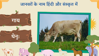 Cow name in sanskrit and hindi with images
